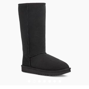 UGG Black Tall Boots Size US 6 / Eu 37